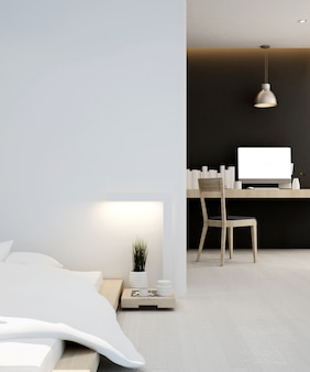 Bedroom and workplace  home or apartment , interior   3