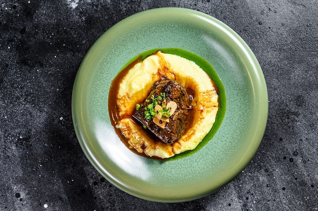 Стейк из филе говядины с картофельным пюре