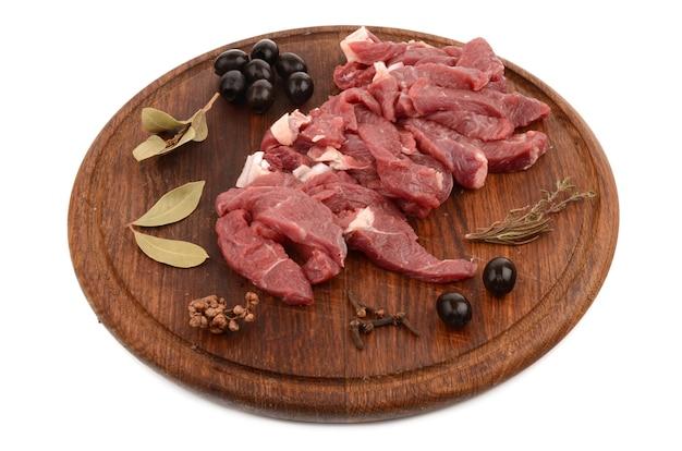 쇠고기 흰색 절연