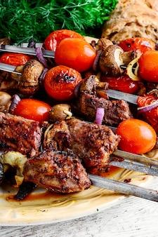 Beef on skewers