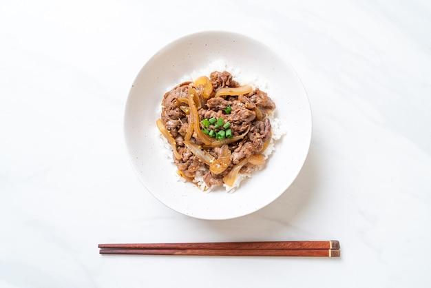 牛丼(ぎゅうどん)和食