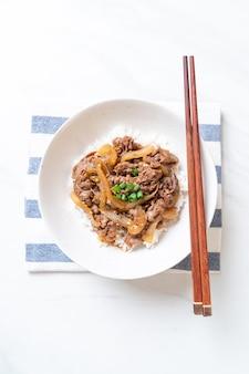 牛丼(牛丼)-日本食スタイル