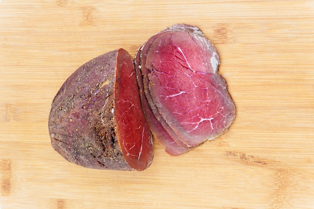 牛肉の燻製トマト玉ねぎ木料理高速自家製