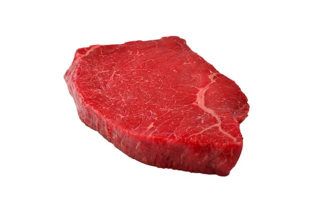 Стейк из говядины, изолированные на белом фоне.