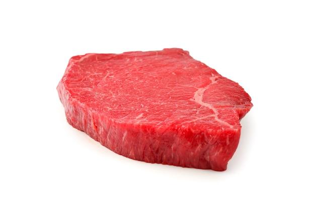 쇠고기 스테이크 흰색 배경에 고립입니다.