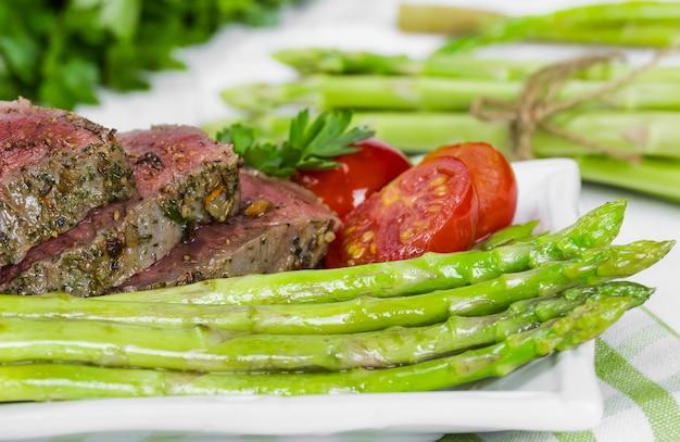 Beef steak medium roast