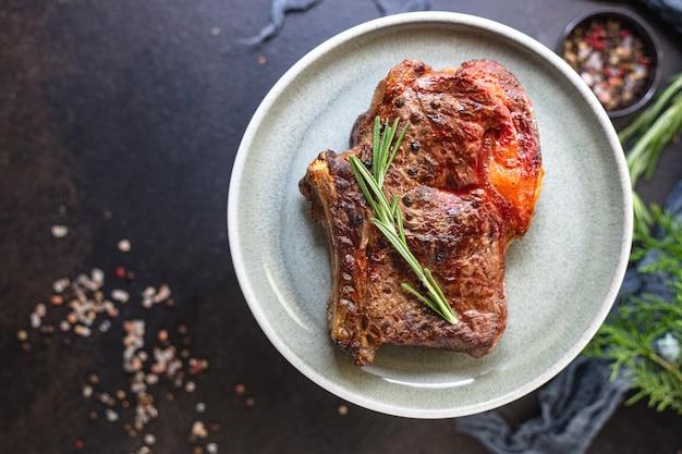 ビーフステーキリブアイ焼き肉焼き