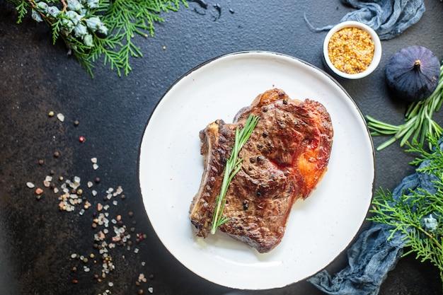 ビーフステーキリブアイ焼き子牛のジューシーな揚げ肉
