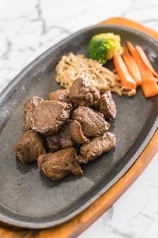 Beef steak with vegetable