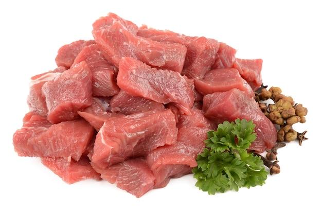 흰색 절연 향신료와 쇠고기