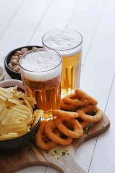 ビールとスナック