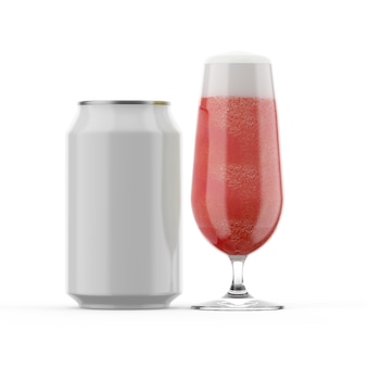 ビール缶330mlとビアグラス