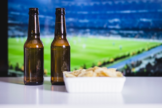 맥주, 칩 및 축구