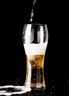 Beer glass being filled