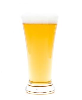 白のガラスのビール