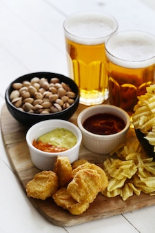 Beer and snacks