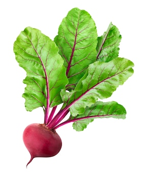 Beetroot isolated on white with clipping path