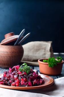 Свекольный салат vinegret