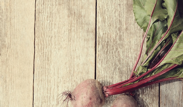 Beetroot on wooden table