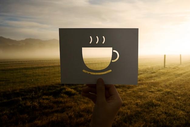 コーヒー穿孔紙で新しい一日を始めよう