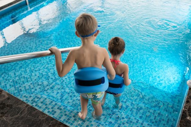 Начало урока плавания