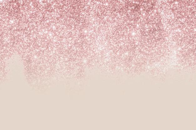 ベージュとピンクのキラキラパターンの背景