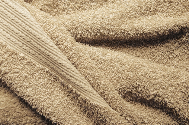 Beige bath towel background