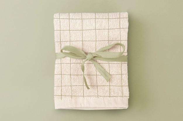 Asciugamano da bagno beige in cotone biologico