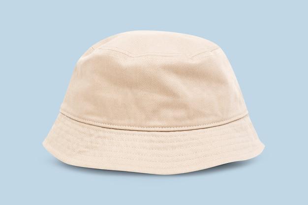 ベージュのバケツ帽子ユニセックスアクセサリー