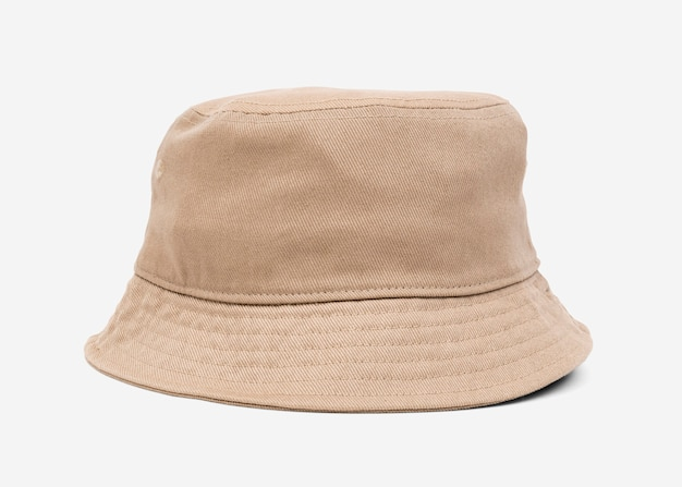 Beige bucket hat unisex accessory
