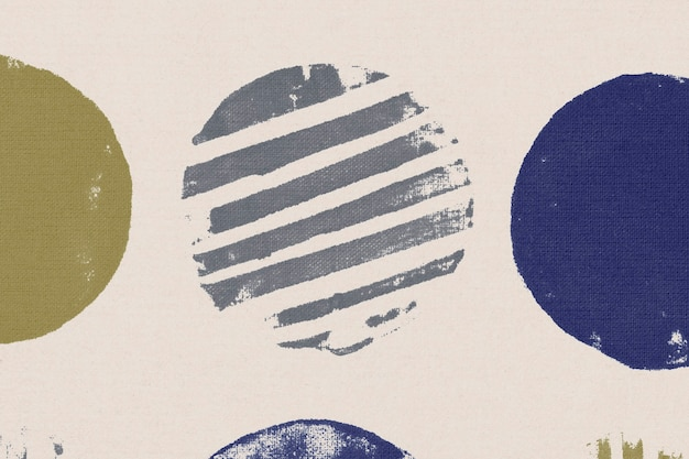 Beige circle pattern background block prints