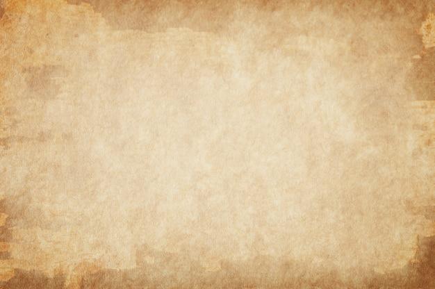 ベージュの汚れた空の古い紙の背景、紙の質感
