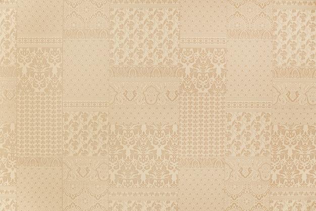 Beige floral wallpaper background texture