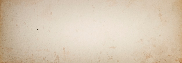 Beige grunge banner background of old vintage paper in spots with space for text