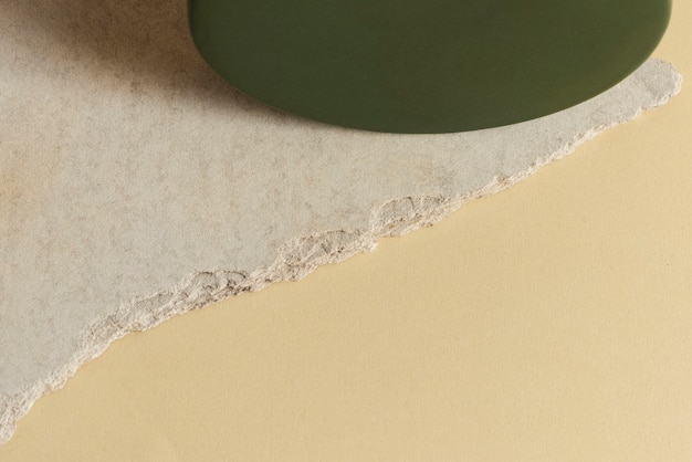 Beige gypsum panel with copy space