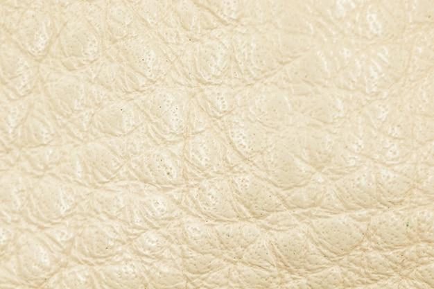 Beige leather texture and background close-up photo, high detailed surface