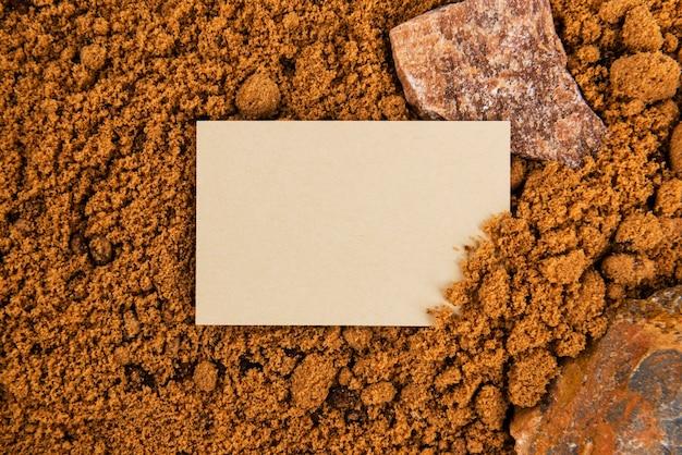 Elemento di design del biglietto da visita beige