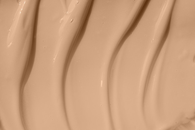 Beige nude liquid foundation smear concealer texture smudge make up base drops cream textured