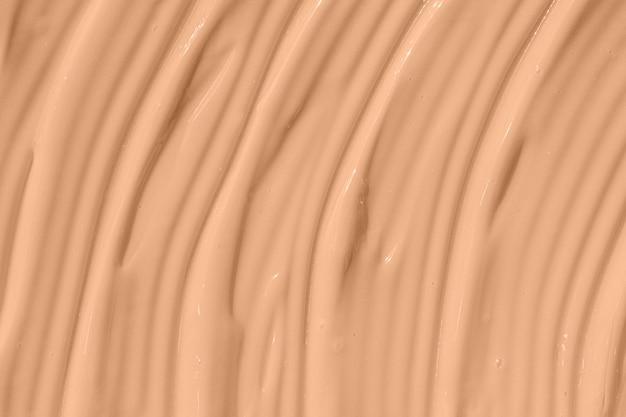 Beige nude liquid foundation texture concealer smear smudge drop make up base cream textured