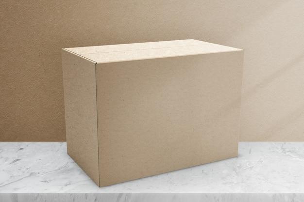 デザインスペースのあるベージュの紙箱包装
