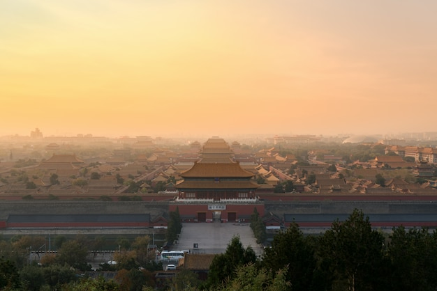 Beijing ancient forbidden city in morning at beijing, china.