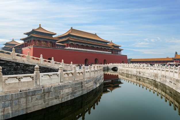 Beijing ancient royal palaces of the forbidden city in beijing, china.