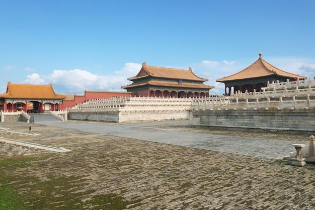 베이징, 중국에있는 자금성의 베이징 고 대 왕궁.