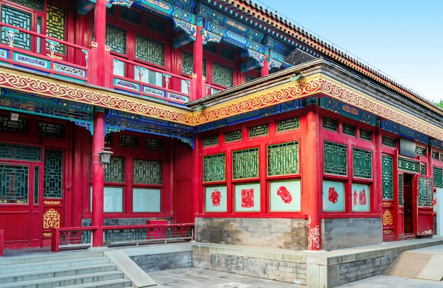 Beijing courtyard in the qing dynasty