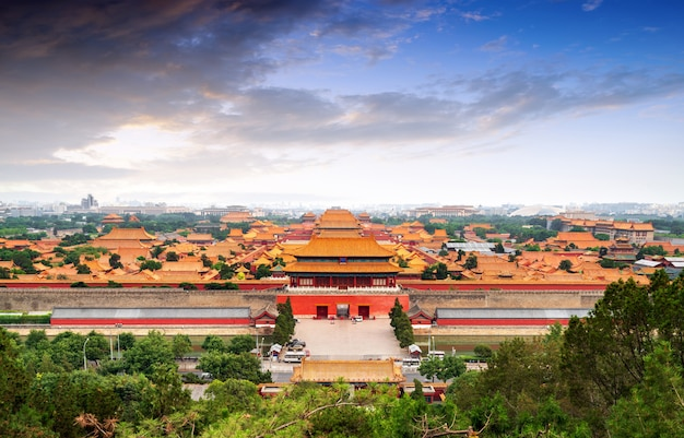Beijing forbidden city panorama.