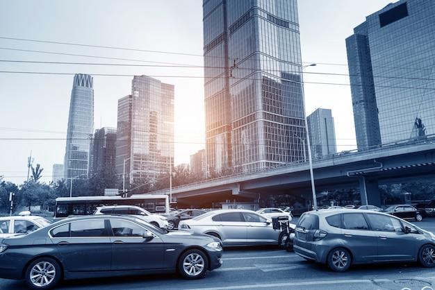 Beijing street and car