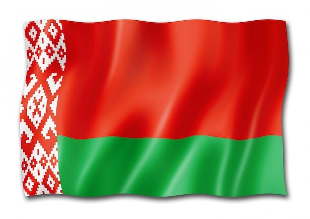 Белорусский флаг на белом