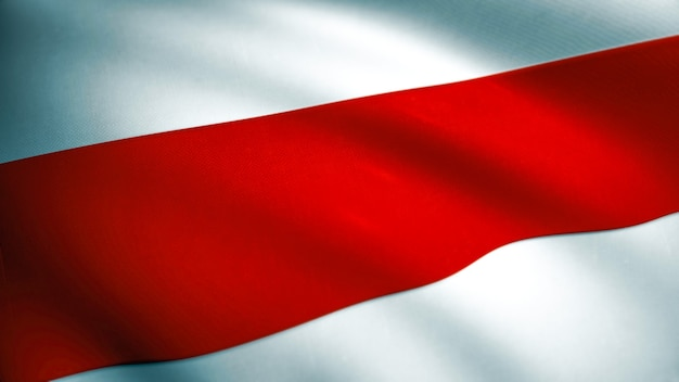 Беларусь красный белый красный флаг свободы. размахивая флагом беларуси текстуры ткани. оружие