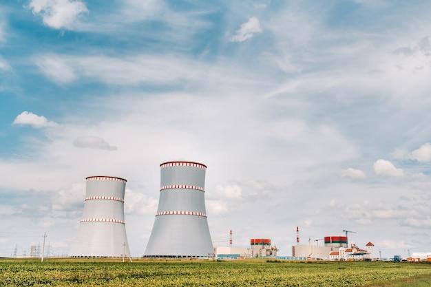 Ostrovets 지구에있는 벨로루시 원자력 발전소