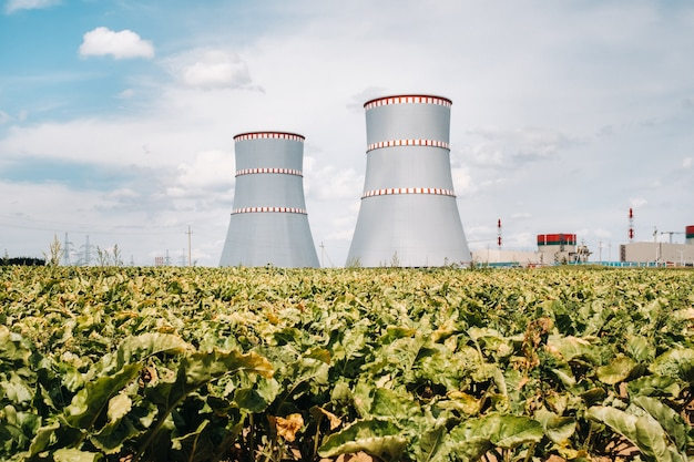 Belarusian nuclear power plant in ostrovets district